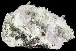 "Buy 2.9"" Quartz Crystal Cluster With Pyrite Cubes - Peru - #71365"