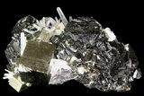 "3"" Pyrite, Sphalerite and Quartz Association - Peru - #71381-1"