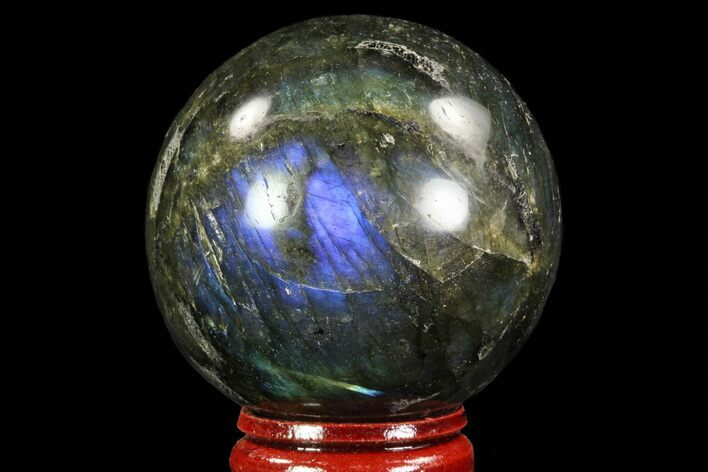 "1.95"" Flashy Labradorite Sphere - Great Color Play"