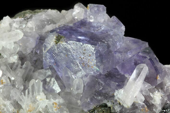 "2.5"" Purple Fluorite Crystals with Quartz - Mexico"