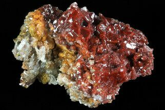 "2.4"" Red Calcite Crystal Cluster - Mexico For Sale, #72011"
