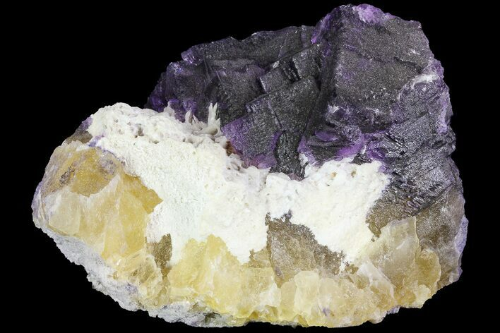 "5.5"" Purple & Yellow Fluorite Wi Bladed Barite - Cave-in-Rock"