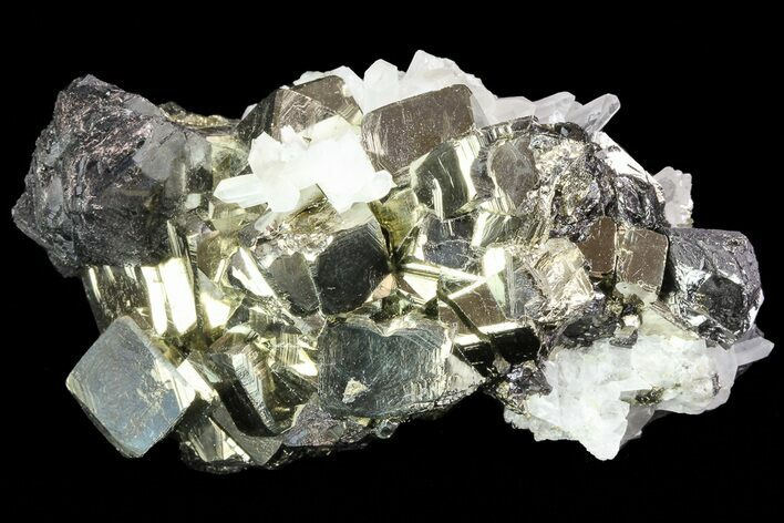 "2.7"" Sphalerite, Pyrite and Quartz Association - Peru"