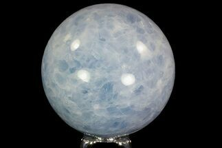 "3.2"" Polished Blue Calcite Sphere - Madagascar For Sale, #74456"