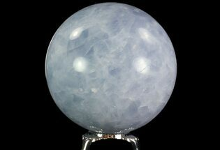 "2.8"" Polished Blue Calcite Sphere - Madagascar For Sale, #74432"
