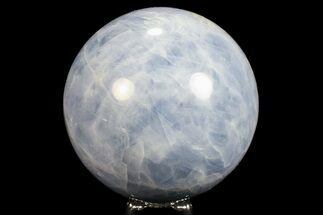 "3.45"" Polished Blue Calcite Sphere - Madagascar For Sale, #74447"