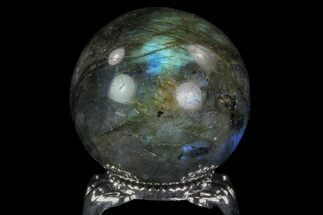 "Buy 1.4"" Flashy Labradorite Sphere - Great Color Play - #74632"