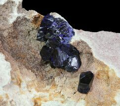 Large, Vibrant Azurite Crystals In Matrix - Morocco For Sale, #74687
