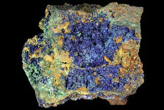 "Buy 1.9"" Sparkling Azurite and Malachite Crystal Cluster - Morocco - #74374"