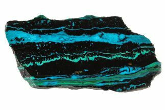 "Buy 3.7"" Polished Chrysocolla & Malachite Slab - Bagdad Mine, Arizona - #67690"