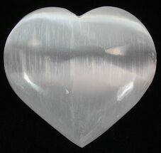 "2 1/4"" Polished Selenite Hearts - 1 Piece For Sale, #75590"