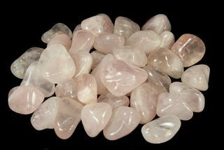 Bulk Polished Rose Quartz - 8oz. (~ 12pc.) For Sale, #75671