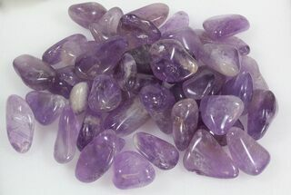 Bulk Polished Amethyst - 8oz. (~ 20pc.) For Sale, #75680