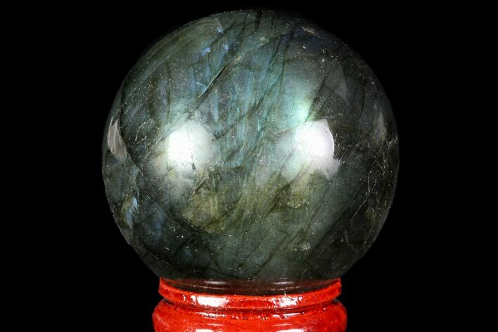 "1.7"" Flashy Labradorite Sphere - Great Color Play"