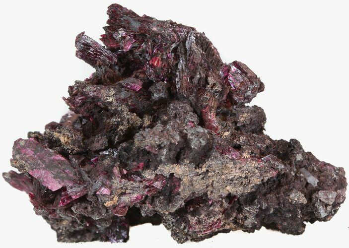 "2"" Deep Purple Erythrite Crystals - Bou Azzer, Morocco"