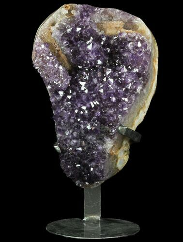 "10.5"" Dark Amethyst Crystal From Uruguay - Metal Stand"