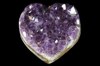 "2.8"" Purple Amethyst Crystal Heart - Uruguay For Sale, #76781"