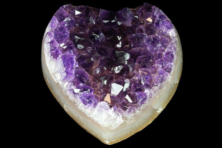"2.8"" Purple Amethyst Crystal Heart - Uruguay"