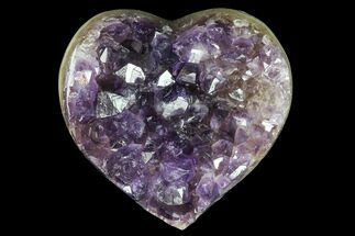 "3.4"" Purple Amethyst Crystal Heart - Uruguay For Sale, #76772"