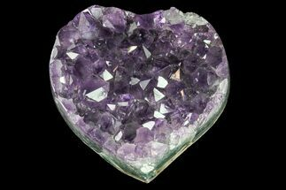 "2.7"" Purple Amethyst Crystal Heart - Uruguay For Sale, #76769"