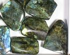Wholesale Lot: 20 Lbs Free-Standing Polished Labradorite - 12 Pieces - #77652-2