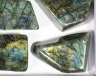 Wholesale Lot: 20 Lbs Free-Standing Polished Labradorite - 8 Pieces - #77657-2