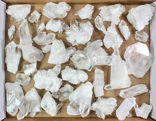 "Wholesale Lot: 10 Lbs Clear Quartz Crystal Clusters (2-4"") - Brazil"