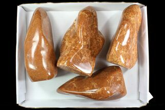 Buy Wholesale Lot: 30 Lbs Free-Standing Polished Orange Calcite - 4 Pieces - #78118