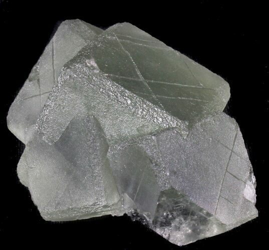 "2.8"" Cubic, Green Fluorite - China"
