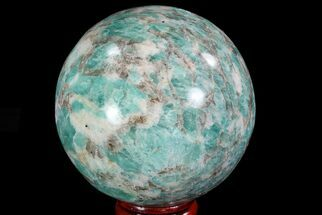 "2.6"" Polished Amazonite Crystal Sphere - Madagascar For Sale, #78740"