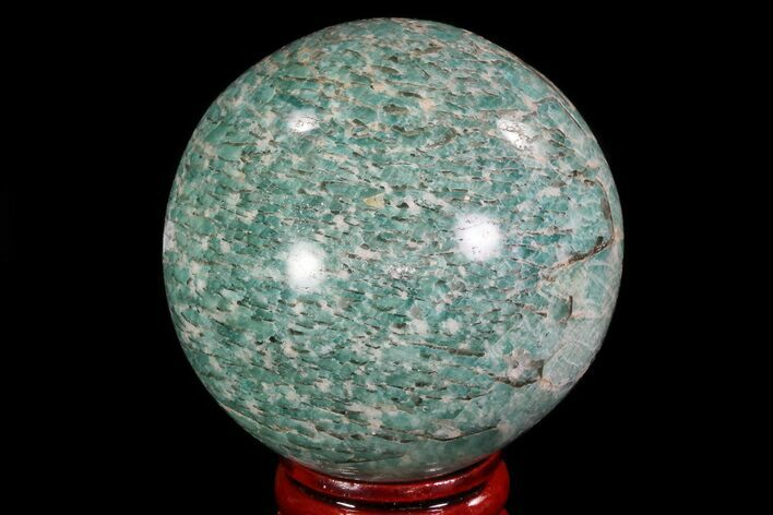 "2.1"" Polished Amazonite Crystal Sphere - Madagascar"
