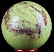 "2.4"" Polished Green Opal Sphere - Madagascar For Sale, #78767"