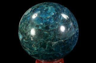 "2.3"" Bright Blue Apatite Sphere - Madagascar For Sale, #78707"