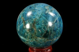 "2.1"" Bright Blue Apatite Sphere - Madagascar For Sale, #78713"