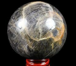 "2.7"" Polished Black Moonstone Sphere - Madagascar For Sale, #78944"