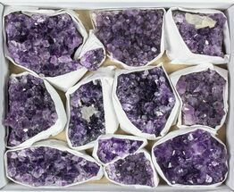 Buy Wholesale Flat: 12 Pieces Uruguay Amethyst Clusters - Grade B - #79417