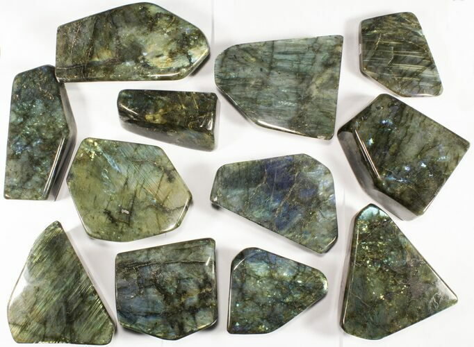 Wholesale Lot: 25 Lbs Free-Standing Polished Labradorite - 12 Pieces