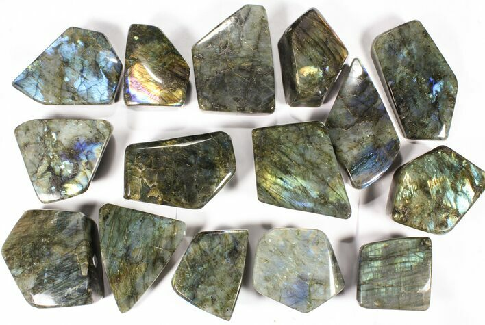 Wholesale Lot: 23 Lbs Free-Standing Polished Labradorite - 15 Pieces