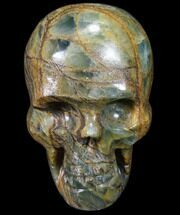 "3"" Carved, Blue Onyx Skull - Argentina For Sale, #80873"