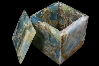 "Buy 4"" Polished Blue Calcite Jewelry Box - Argentina - #80878"
