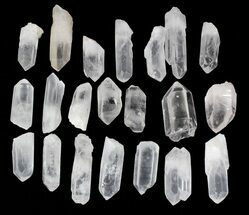 "Medium Quartz Crystal Points (2-3"" size) - 1 KG Bag For Sale, #81158"