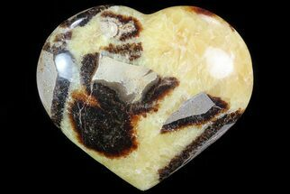 "3.7"" Polished Septarian ""Heart""  For Sale, #82064"