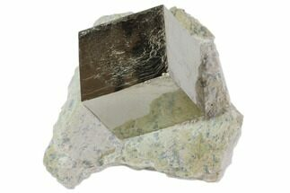 "1.2"" Natural Pyrite Cube In Rock From Spain For Sale, #82091"