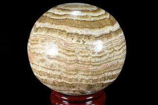 "3.6"" Polished, Banded Aragonite Sphere - Morocco For Sale, #82298"