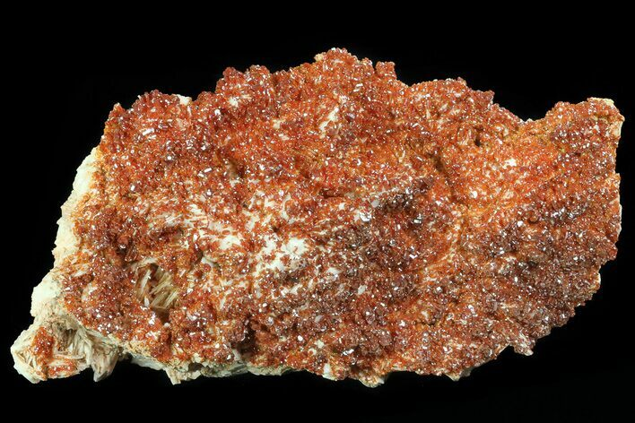 "5.9"" Ruby Red Vanadinite Crystals on Pink Barite - Morocco"