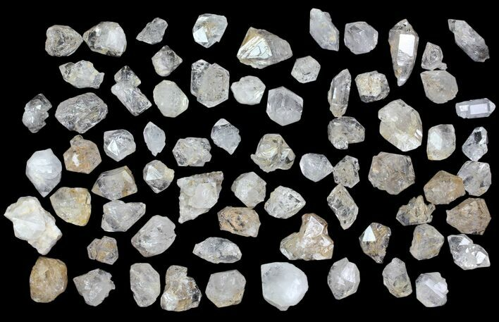 Wholesale Flat: Clear Quartz Crystals (Morocco) - 68 Pieces