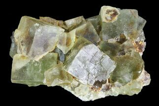 "2.2"" Yellow/Green Cubic Fluorite Crystal Cluster - Morocco  For Sale, #82799"