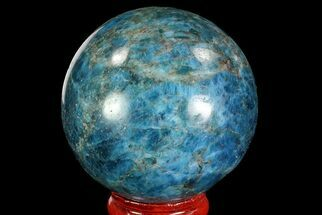 "Buy 2.1"" Bright Blue Apatite Sphere - Madagascar - #83368"