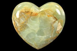 "3.7"" Carved & Polished Blue Calcite Heart - Argentina For Sale, #84164"