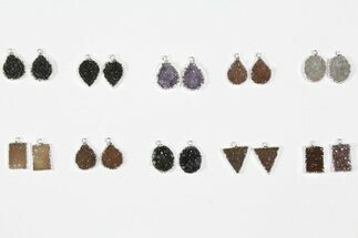 Buy Wholesale Lot: Druzy Quartz Pendants/Earrings - 10 Pairs - #84067